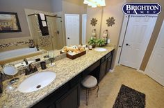 #townhome #master bath in Eagle Springs   Brighton Homes®