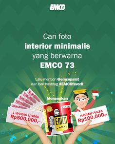 Kuis EMCO datang lagi!!! Hadiahnya UANG TUNAI Rp500.000 untuk pemenang UTAMA dan Rp100.000 untuk 10 orang pemenang hiburan!!! Photo And Video, Painting, Instagram, Music, Painting Art, Paintings, Painted Canvas
