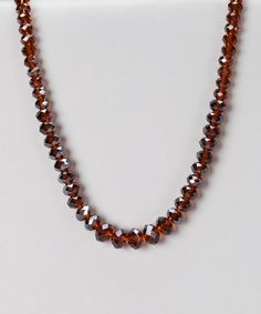 Take a look at this Smoked Topaz Faceted Beaded Necklace by 1928 Jewelry Company on #zulily today!