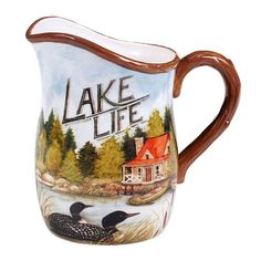 Certified International Lake Life 88-oz. Pitcher, Multicolor