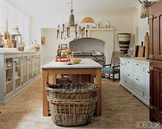 Eclectic country kitchen, home of Anthropologie's Glen Senk and Keith Johnson