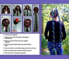 Renaissance costume wig hair accessories plait braid hair extensions