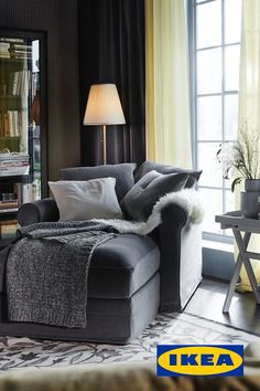 Living room upgrade with textiles – IKEA - luxury furniture living room Bedroom Reading Nooks, Bedroom Nook, Bedroom Corner, Bedroom Chair, Chaise Lounge Bedroom, Lounge Chairs, Dining Chairs, Living Room Upgrades, Living Room Update