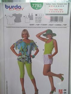 Misses' Tops Burda 7793 Sewing Pattern Women's by WitsEndDesign