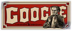 """Harry Houdini's 137th Birthday""  Mar 24, 2011  Global    #doodle #doodles #google #googledoodles"