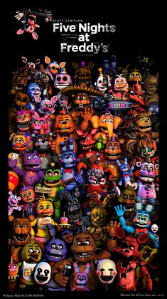 Fnaf characters by on DeviantArt Wallpaper Lobos, More Wallpaper, Animatronic Fnaf, Fnaf Wallpapers, Fnaf Sl, Fnaf Characters, Fnaf Sister Location, Fnaf Drawings, Freddy Fazbear