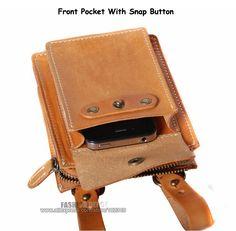 Designer First layer Genuine Leather Waist Bag Vegetable Tanned Waist Leather Wallet Purse belt pouch men women first grade cow