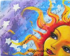 Items similar to Sun face painting Celestial goddess art Original 8 x whimsical decor CaaT on Etsy Sun Moon Stars, My Sun And Stars, Art Journal Inspiration, Painting Inspiration, Good Day Sunshine, Sun Designs, Sun Art, Goddess Art, Whimsical Art