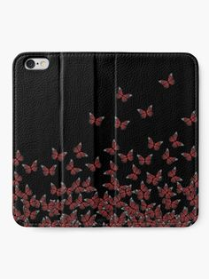) Red on black, insects pattern' iPhone Wallet by cool-shirts Iphone Wallet, Iphone Cases, Horde, Samsung Galaxy Cases, Mobile Accessories, Mobile Cases, Tech Gadgets, Cool Shirts