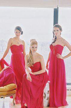 Bridesmaids dresses | Donna Morgan, Fall 2013