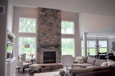 Stoned Fireplace Floor to Ceiling with Hearth and Box Mantle with Brackets Price Quartz JN Stone
