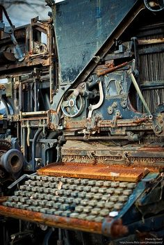 Old rusty printing machinery