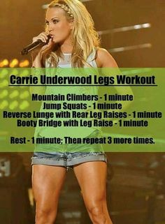 Carrie Underwood Leg Workout- just watched her on the cmas tonight.... Dear god in heaven those legs!!!!!!