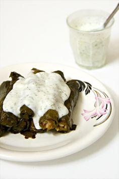 Yabraq silq recipe (يبرق سلق)