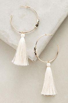 Ewa Tasseled Hoops - anthropologie.com | Jewelry