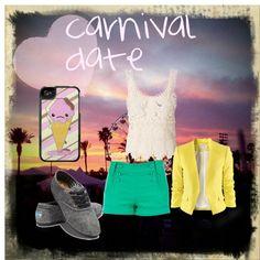 """Carnival date3"" by irishprinces on Polyvore"