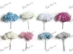 Bouquet di bocci in organza con glitter