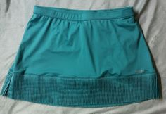 Reebok Play Dry Teal Skort Sz L #Reebok #SkirtsSkortsDresses