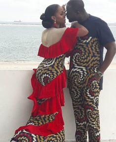 Stylish african print ankara designs for couples, couples african fashion ankara styles, beautiful matching ankara styles for couples Couples African Outfits, Couple Outfits, African Attire, African Wear, African Women, African Dress, African Style, African Clothes, African Design