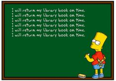 I will return my library book on time.