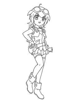 Madoka Beyblade anime coloring pages for kids, printable free