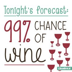 Tonight's forecast? 99% chance of wine!