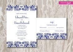 Floral Wedding Invitation-Digital wedding invitation-Printable