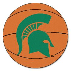 Michigan State Spartans Basketball Area Rug