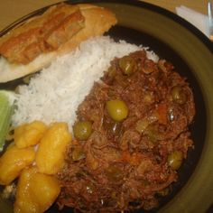 Authentic Cuban Shredded Beef, Ropa Vieja Cubana Recipe | Just A Pinch Recipes  Used 4 1/2 pound chuck roast, seared, 3 bell peppers (red, yellow, orange), tomato paste, diced tomatoes, no ketchup, no olives, crockpot