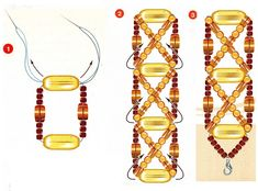 Lace Jewelry, Beaded Jewelry Patterns, Bead Jewellery, Beading Patterns, Jewelry Crafts, Jewelry Bracelets, Handmade Jewelry, Japanese Jewelry, Bead Weaving