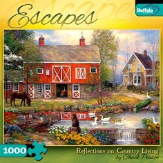 Escapes 1000-Piece Jigsaw Puzzle Relections on Country Living