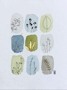 Art Inspo, Inspiration Art, Journal Inspiration, Van Gogh Pinturas, Art Du Croquis, Arte Sketchbook, Art And Illustration, Watercolor Illustration, Flower Illustrations