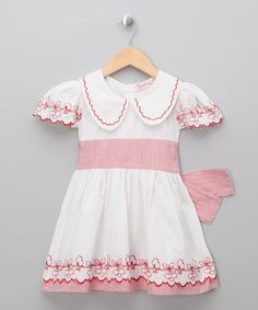 Take a look at this White Holly Cherry Bird Dress - Infant, Toddler & Girls by Powell Craft on #zulily today!