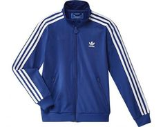 Adidas polyester royal blue firebird retro tracksuit.Available to order online.