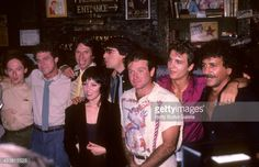Actor Joe Piscopo, comedian David Brenner, comedian Richard Belzer, singer Pat Benatar and actor Robin Williams attend HBO's Television Special to Salute the 10th Anniversary of the Catch a Rising...