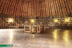 Round Barn interior. ARCADIA, OK, via Flickr.