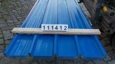 Paket 111412 / DD - OMD   Trapezblech 40.250/4 Dach mit gratis Schutzplatte in anderer Farbe   Stahlsonderprofil Hochvergütungsstahl beidseitig sendzimirverzinkt Materialstärke: 0,45 mm Polyesterfarblackierung 25 µ Farbton ä. RAL 5005 signalblau   Nutzdeckbreite pro Platte: 1,000 Meter Liefer-Rechnungsbreite pro Platte: 1,050 Meter   Coil leer walzen