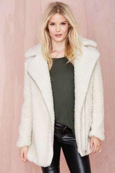 Glamorous Eileen Sherpa Coat at Nasty Gal
