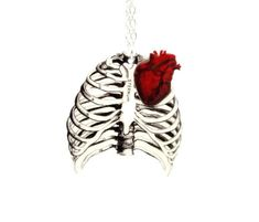 Anatomical Rib Cage Necklace Anatomical Heart by TheSpangledMaker, $27.00... Absolutely LOVE this <3