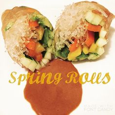 Rice Paper Wraps, Spring Rolls, Brown Rice, Health Coach, Ios App, Raw Food Recipes, Avocado Toast, Veggies, Vegan