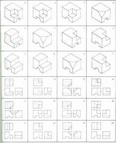 ผลการค้นหารูปภาพสำหรับ isometric drawing exercises with answers Isometric Sketch, Isometric Shapes, Free Math Practice, Orthographic Drawing, Orthographic Projection, Isometric Drawing Exercises, Art Worksheets, Printable Worksheets, Free Printable