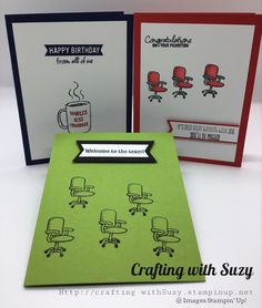 Welcome to the Team stamp set has versatile sentiments for teammates whether it's a birthday or promotion. Welcome To The Team, Welcome Card, Craft Cards, Kids Cards, Card Ideas, Gift Ideas, Bday Cards, Stamp Sets, Stamping Up