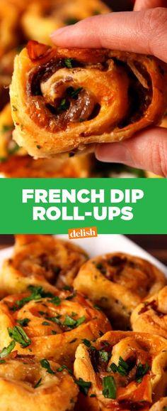 French Dip Roll-Ups - Delish.com