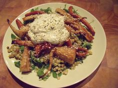 Israeli Couscous Salad with Honey-Roasted Parsnips & Carrots
