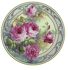 china painting , porcelain painting catalog for Paula Collins Painted Plates, Plates On Wall, Hand Painted, Painted Roses, Painted Porcelain, Antique China, Vintage China, Decoupage Printables, Illustration Blume