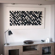 Sound diffuser panel made of wood by Woodblocker