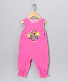 Petite Palace Pink Turkey Corduroy Playsuit