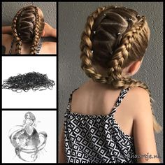 """1,702 Likes, 111 Comments - Goudhaartje (@goudhaartje.nl) on Instagram: """"Three cornrows and a french braid with hair rings from Goudhaartje.nl These cool hair rings are now…"""""""
