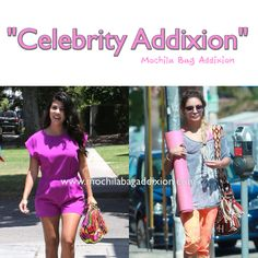 Celebrity Addixion!  Kourtney Kardashian & Vanessa Hudgens wearing our beautiful mochila bags in Los Angeles, CA