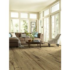 Style Selections 5.43-in W x 3.976-ft L Antique Hickory Wood Plank Laminate Flooring